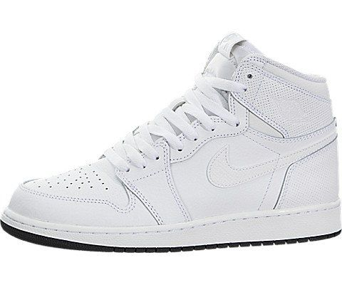 new product db1c0 5afde Special Offers - Jordan Nike Kids Air 1 Retro High OG BG White Black White