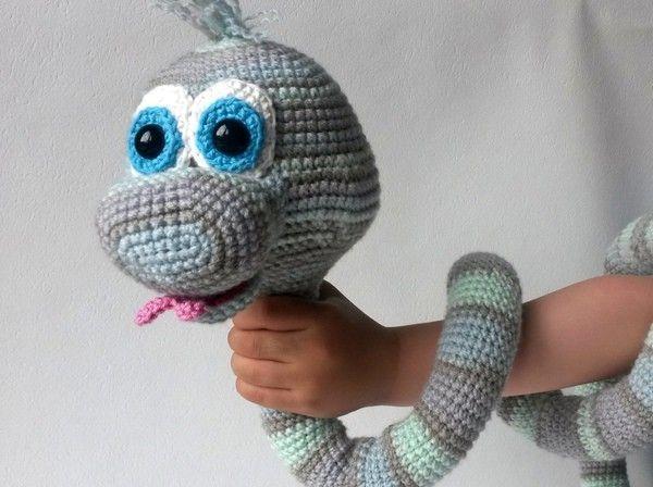 Snoopy Easy Amigurumi Pattern : Crochet pattern elsa the cute snake $ crochet~animals & toys