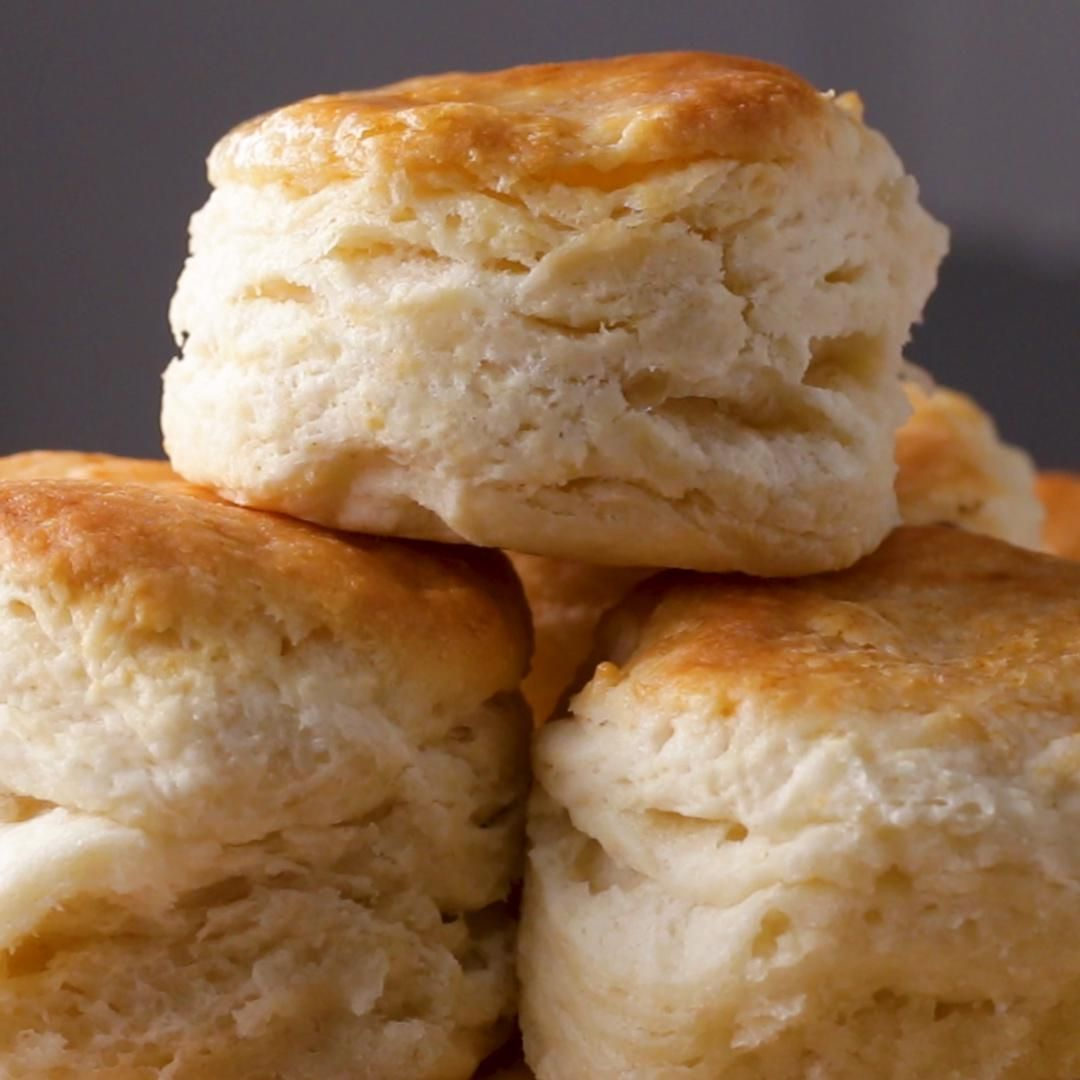 Flakiest Biscuits By Angie Thomas Recipe By Tasty Recipe Homemade Biscuits Flaky Biscuits Biscuit Recipe