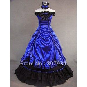 Buy Vintage prom dress, Victorian Brocaded Ball Gown Dress ...