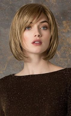 Long Layered Bob With Side Fringe Google Search Cabelos