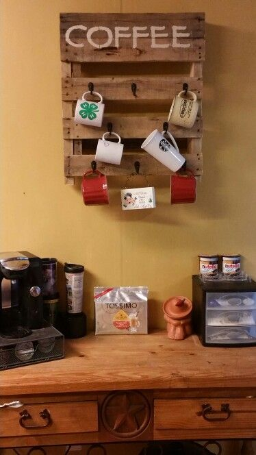 Pallet Coffee Cup Holder Our Finished Projects Pinterest Holders And