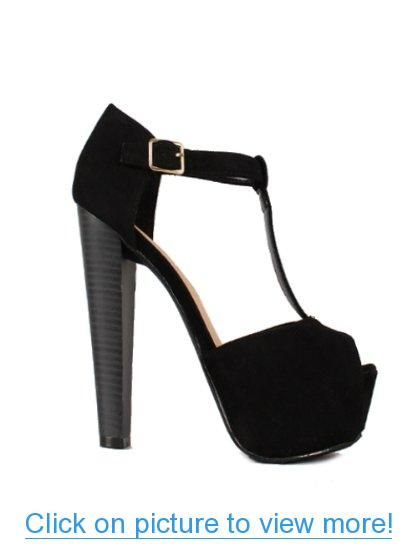 BK Brina-01S Women Platform Wedges Ankle T-Strap Pump Sandals