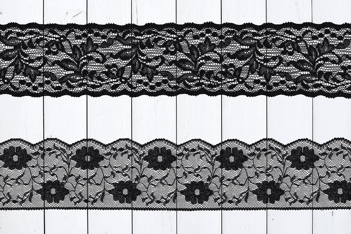 Black Floral Lace Borders Black Floral Floral Lace Lace Border
