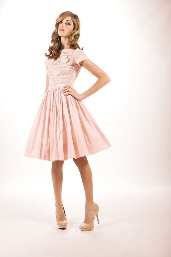 Vintage 1950's Cotton Candy Pink Baby Doll dress | My Style ...