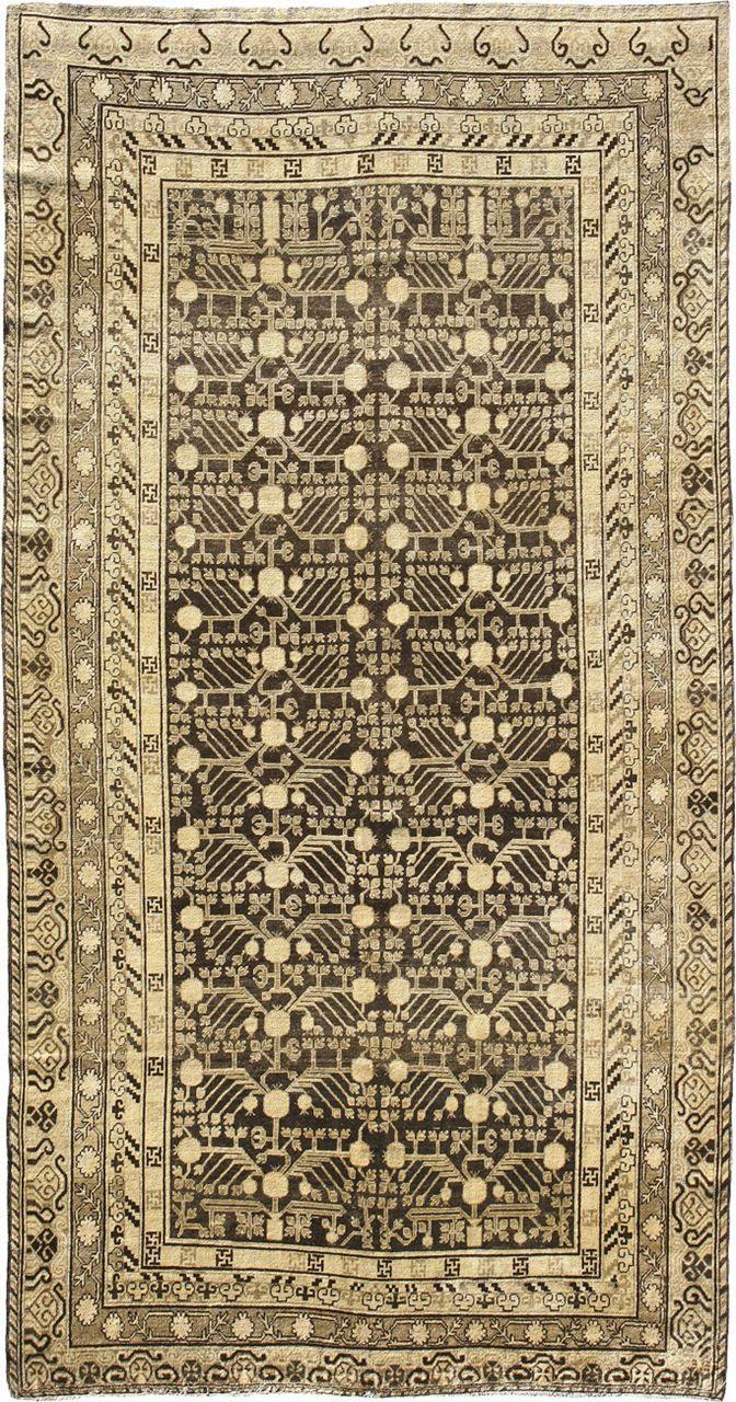 "ANTIQUE SAMARKAND Origin: EAST TURKESTAN Size: 6' 7"" x 12' 8"" Rug ID # 1072"