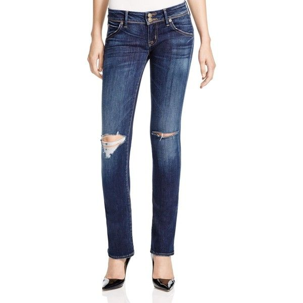 Hudson Beth Baby Boot Destructed Jeans in Convoy ($220) ❤ liked on Polyvore featuring jeans, convoy, frayed jeans, destroyed bootcut jeans, distressed bootcut jeans, destructed jeans and faded jeans