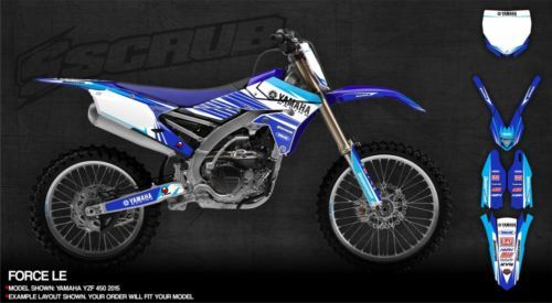 Scrub Motocross Decals Graphics Kit Enduro Yamaha Graphics - Decal graphics for dirt bikes