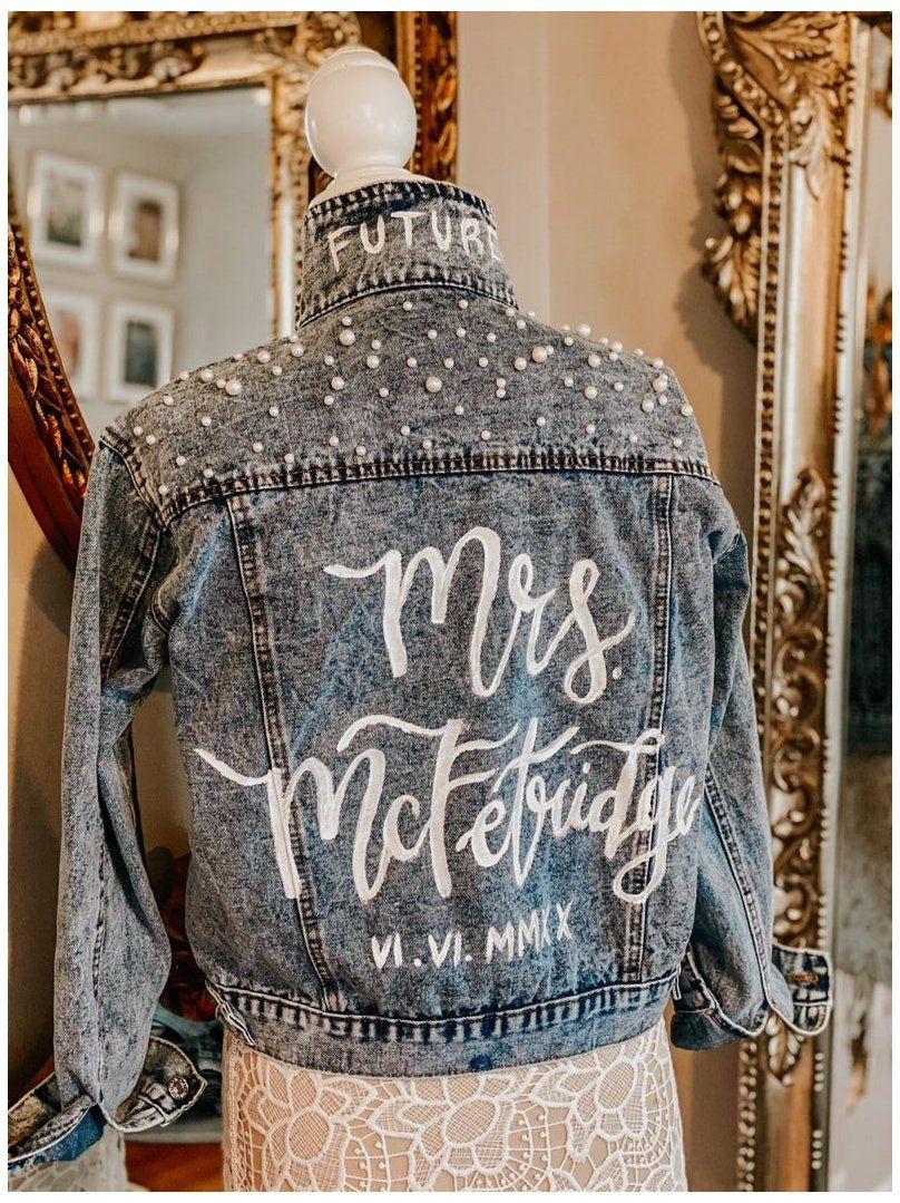 Your Place To Buy And Sell All Things Handmade Painted Bride Jean Jacket Paintedbridejeanjacket Hand In 2021 Bride Jacket Bridal Jacket Hand Painted Denim Jacket [ 1079 x 808 Pixel ]