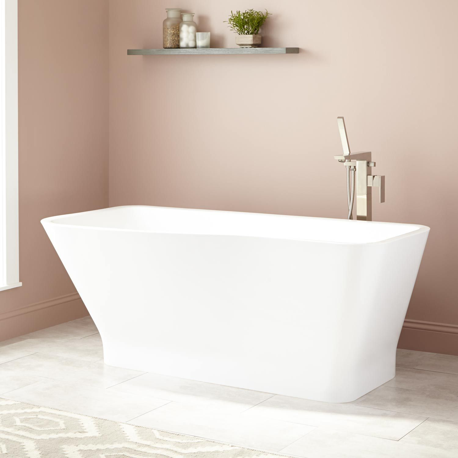 freestanding tub with faucet holes. Maryse Acrylic Freestanding Tub  No Faucet Holes 69