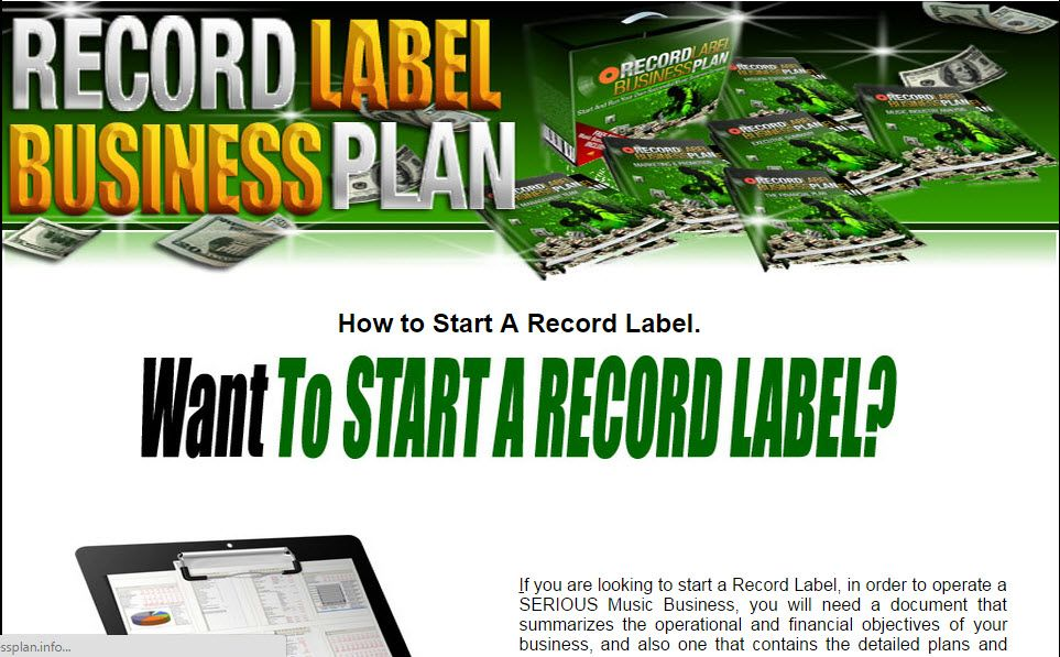 Start Your Own Successful Music Company And Get Funding From - professional business plan