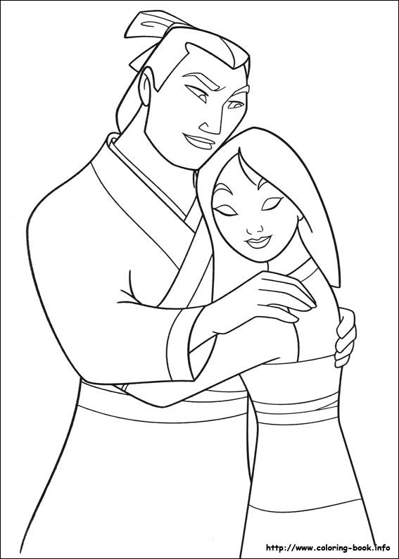 Mulan coloring picture | Parker Birthday | Pinterest | Colores ...
