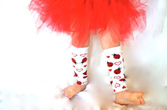 Childrens Leg Warmers  I Love Ladybugs by GoobaGear on Etsy, $7.99