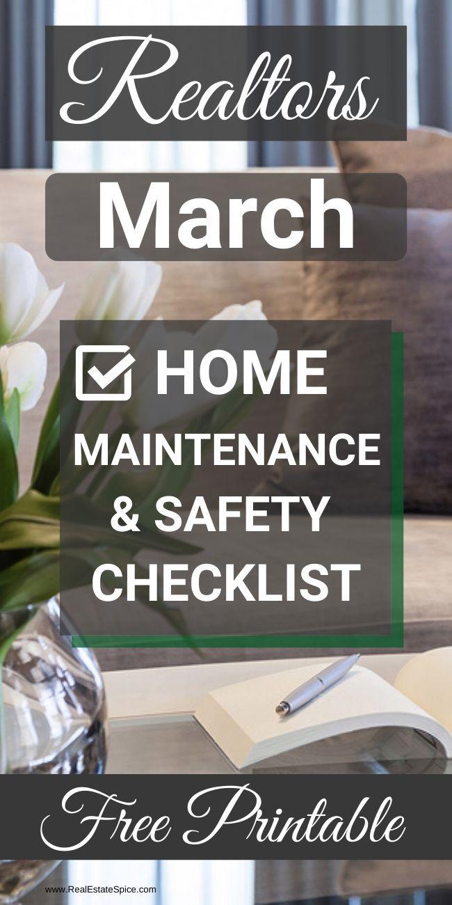 Photo of Checkliste für die Wartung zu Hause im März zum Ausdrucken. Diese kostenlose Druckversion enthält Hauswartungs- und Sicherheitsaufgaben zum Schutz Ihres Hauses und Ihrer Familie. Holen Sie sich Ihre HIER