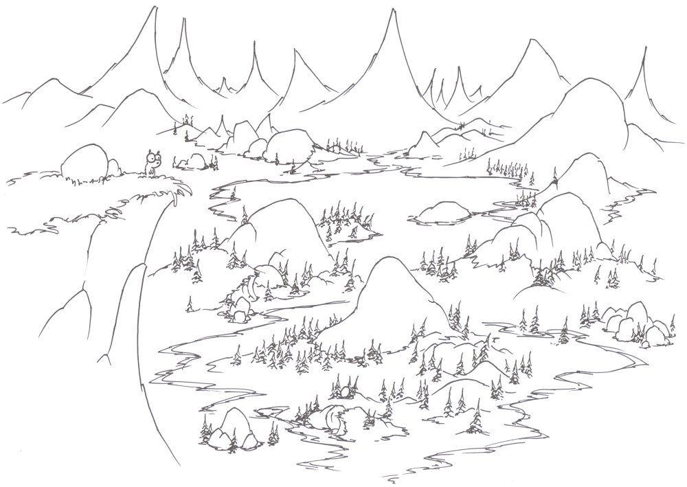 Dibujos para colorear paisajes   manualidades   Pinterest