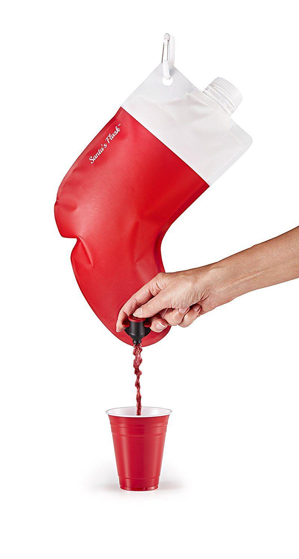 Amazon Com Party Flasks Santa S Stocking Flask 2 25 Liter Holds 3 Bottles Of Wine Or White Elephant Christmas White Elephant Gifts Christmas Gift Exchange