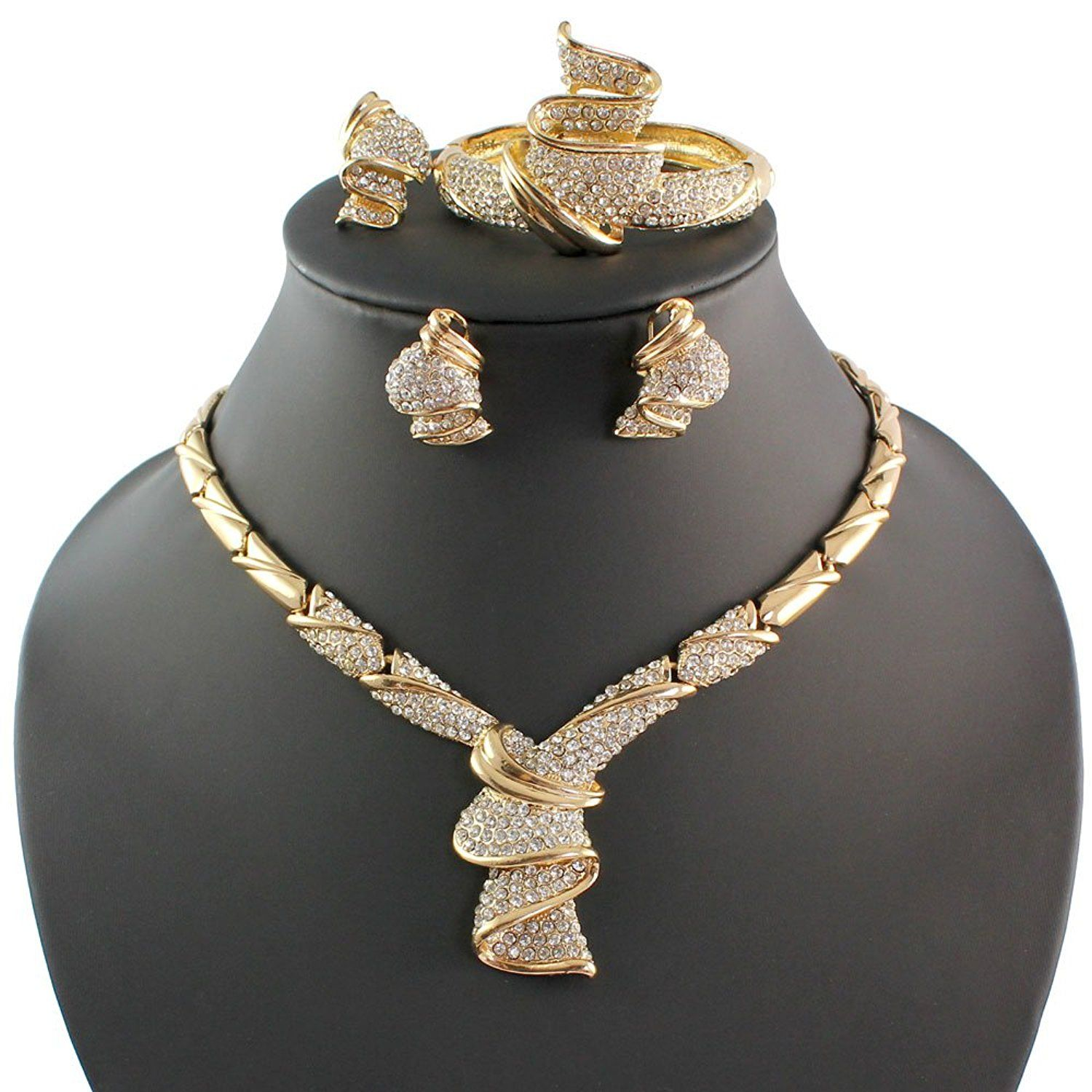 Fashion women k gold plated africa dubai wedding party necklace
