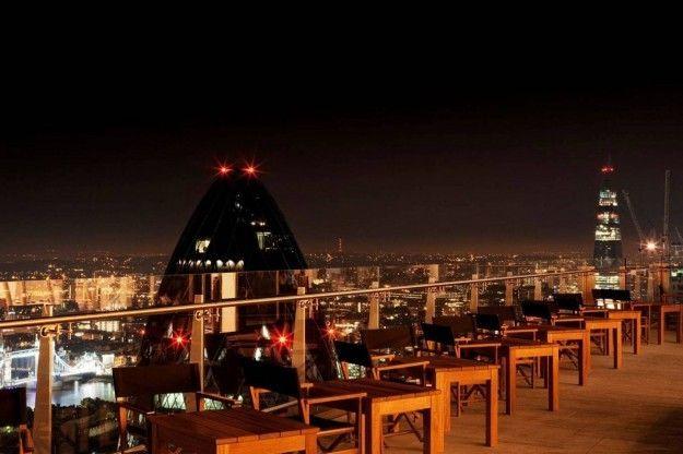 Panorámica Nocturna Desde La Terraza Sushisamba En Londres