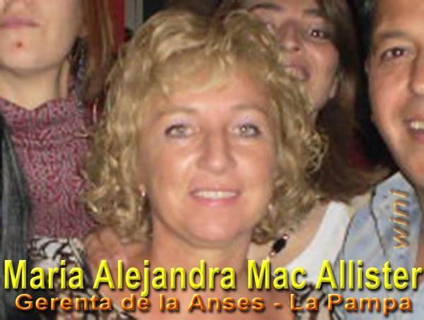 Maria Alejandra Mac Allister visitó Victorica donde asumió un jefe de delegación de ANSES