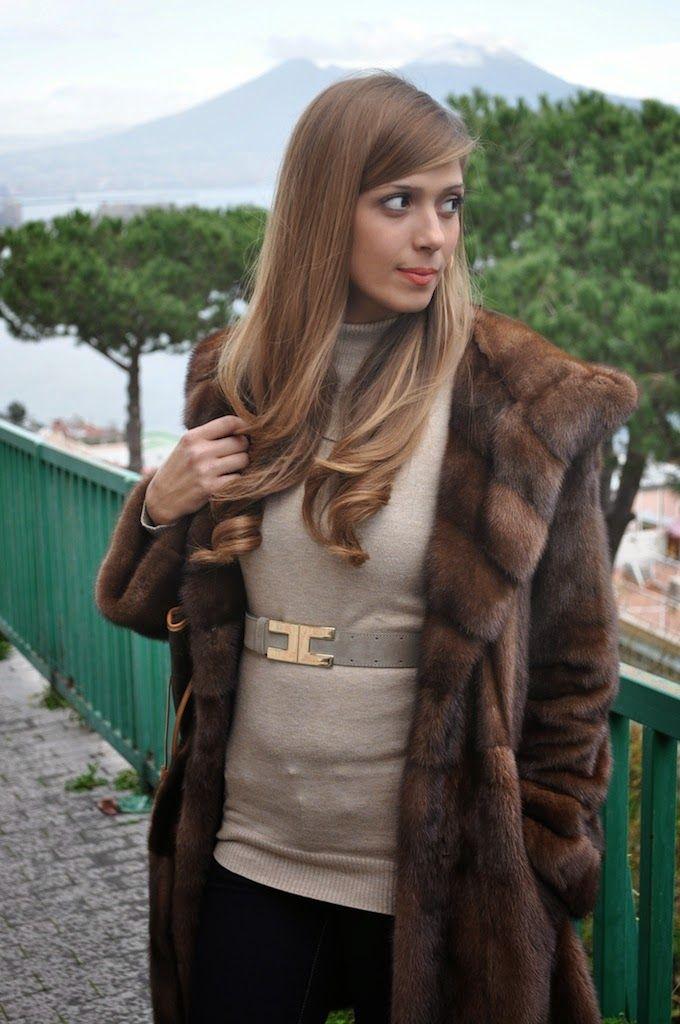 Vintage Nerzmantel Nerz Mantel Pelzmantel Pelz Dunkel Dark Mink Fur Coat Visone Um Jeden Preis Jacken, Mäntel & Westen