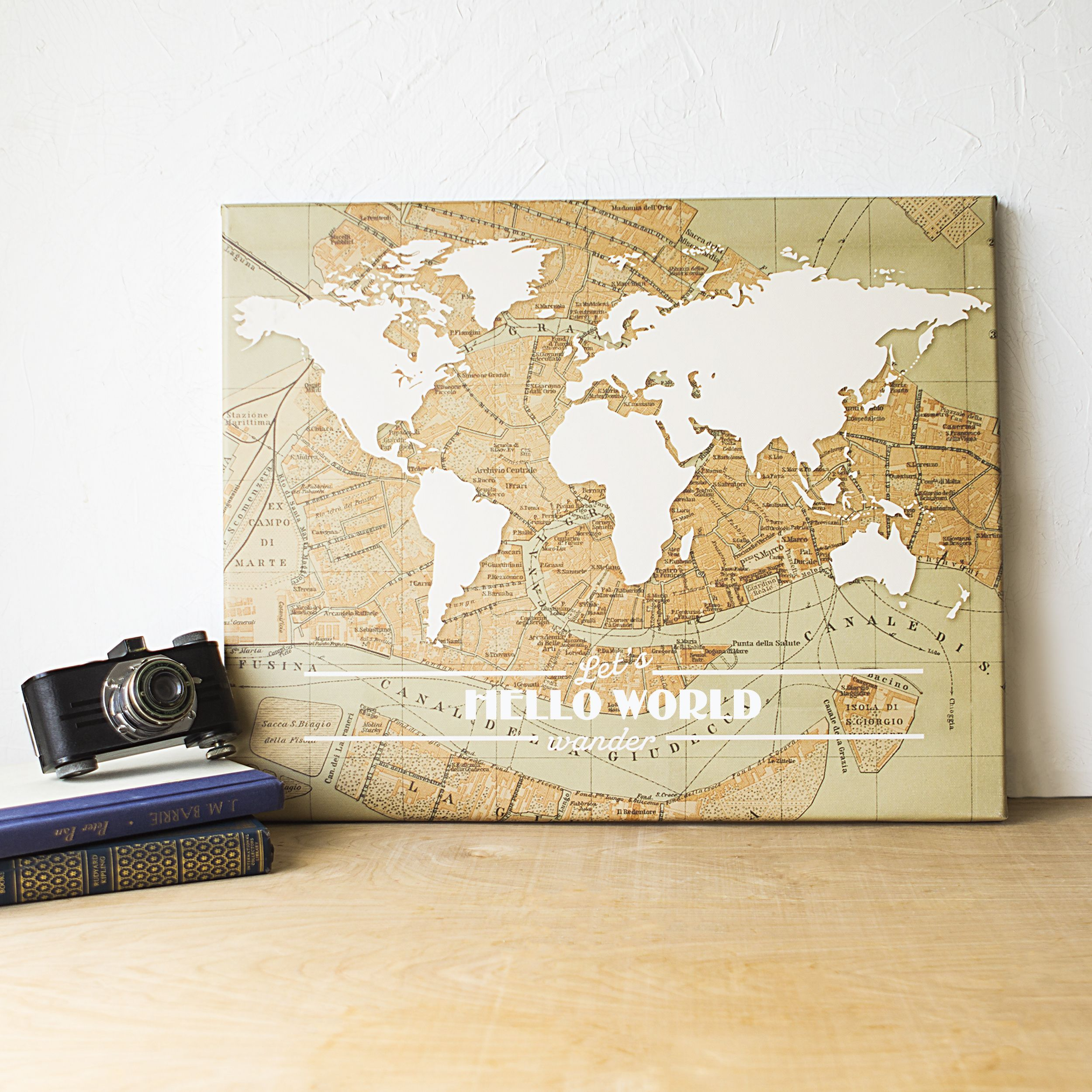 Travel the World Gallery Wrapped Canvas | Products | Pinterest ...