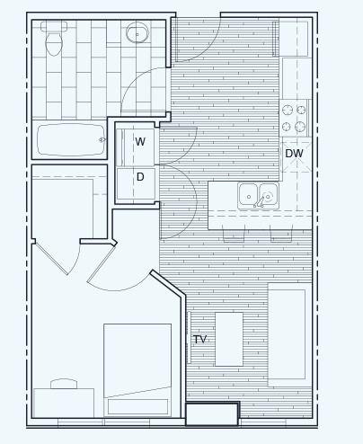 1 Bedroom 1 Bathroom Floor Plan C Small House Design Small Bathroom Floor Plans Small House Plans