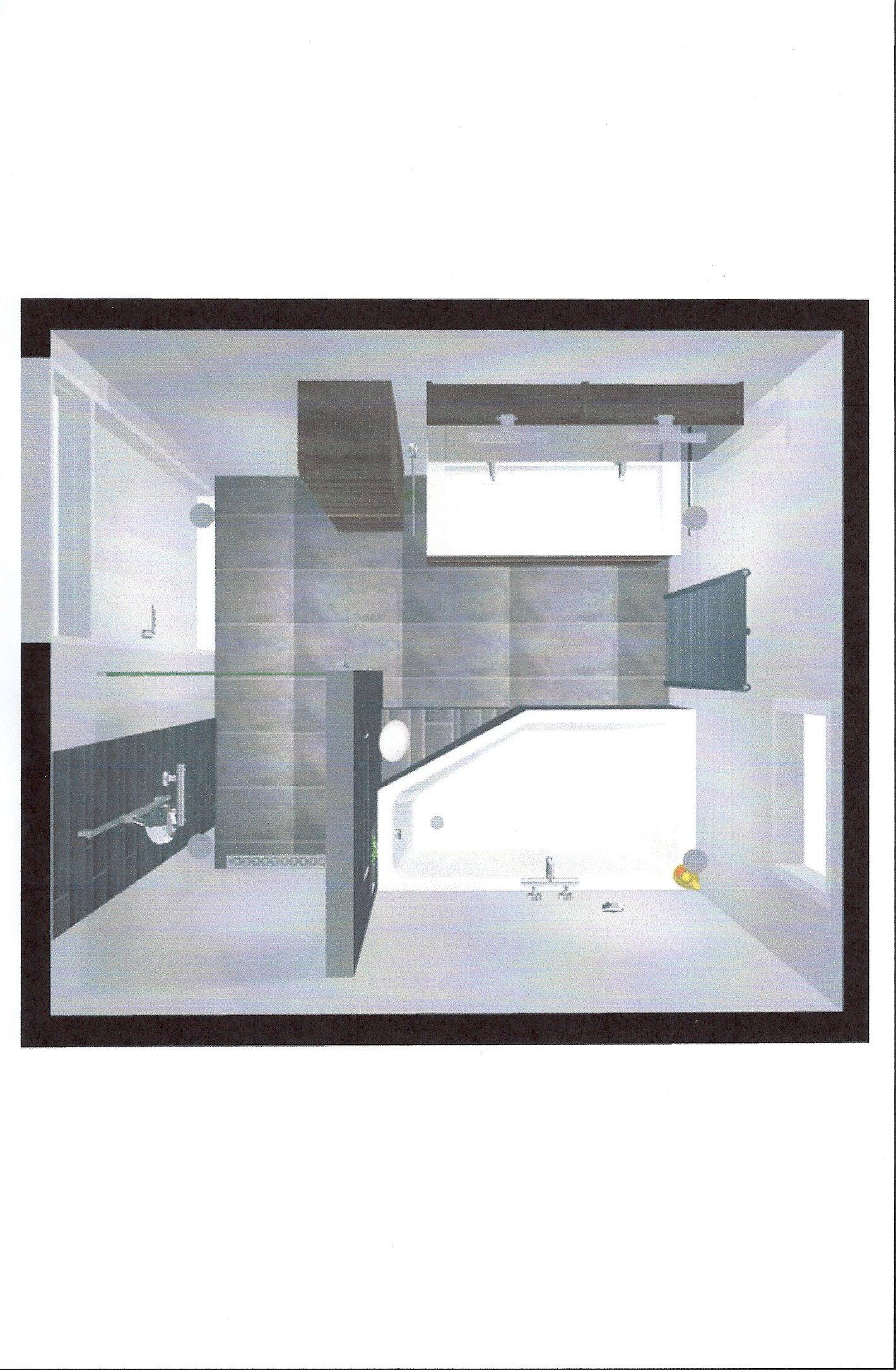 impressie van bovenaf badkamer pinterest van