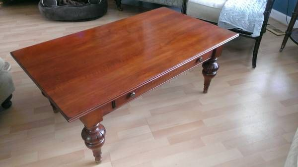 Craigslist 250 Ethan Allen British Classics Dining Table Coffee Table Dining