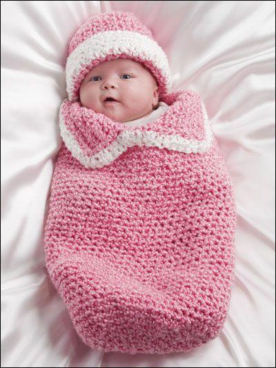 Bolsita cocoon para bebé. Inspiración. / Baby Crocheted Cocoon ...