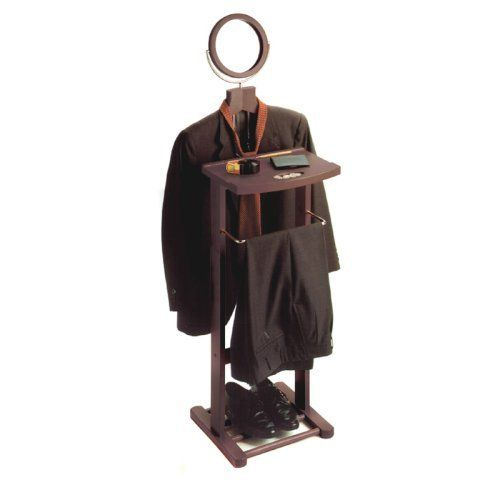 Winsome Avalon Wooden Valet Stand and Mirror