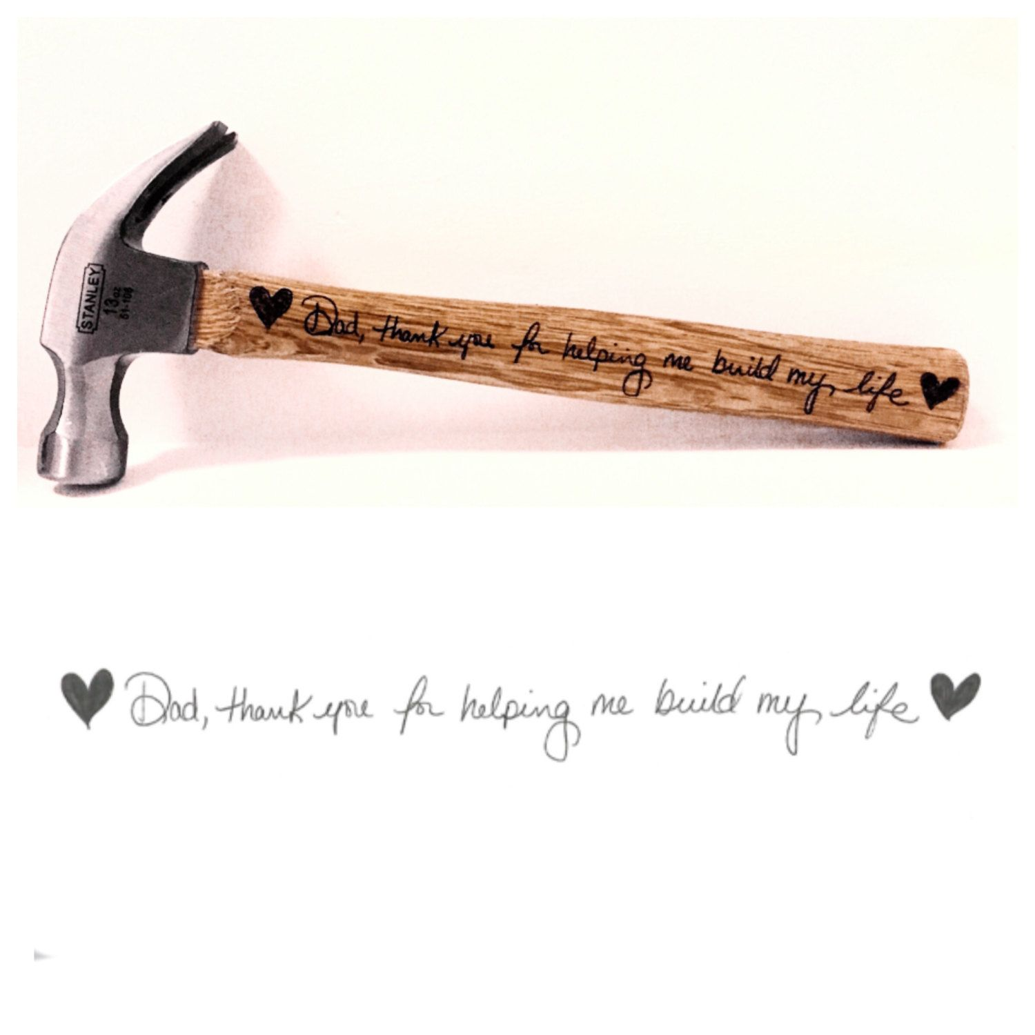 Personalized hammer, engraved hammer, Father's Day gift, fathers day hammer, Personalized Tool, Tools for Dad, personalized writing by NiksNaksStore on Etsy