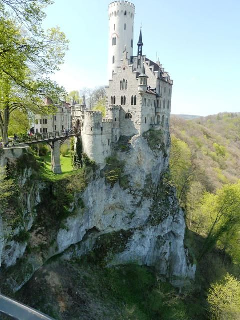 Lichtenstien Castel in Germany... this is supposedly the castle that inspired Disney's!
