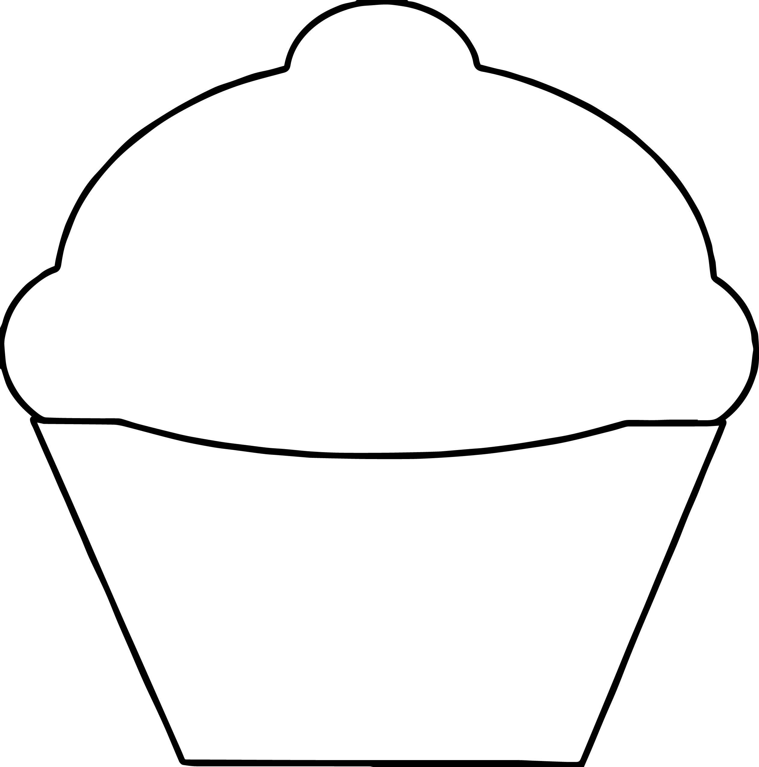 Basic Empty Cupcake Coloring Page Cupcake Coloring Pages Easy Coloring Pages Coloring Pages
