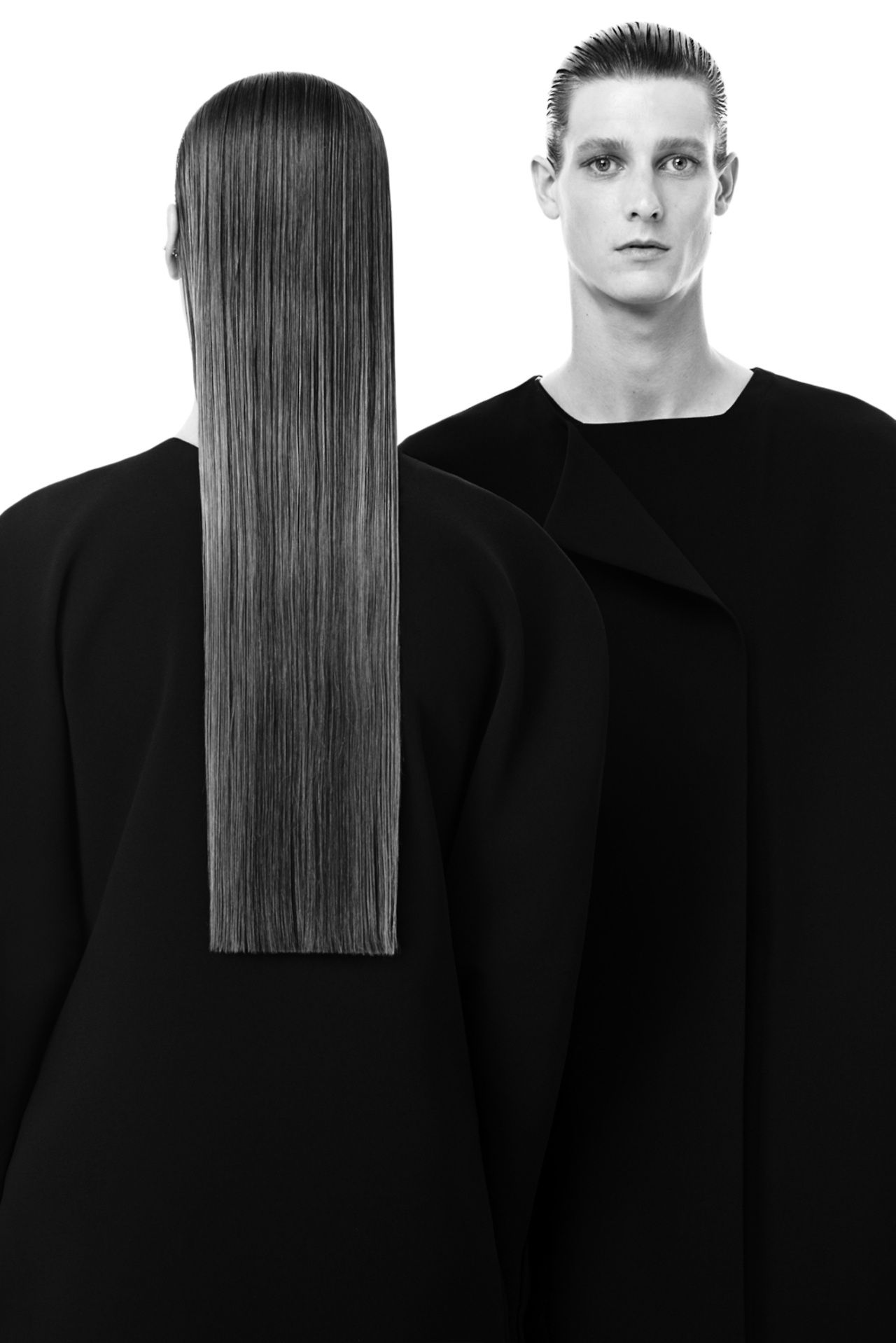 Haute Kills Minimal tailoring & long sleek hair; m