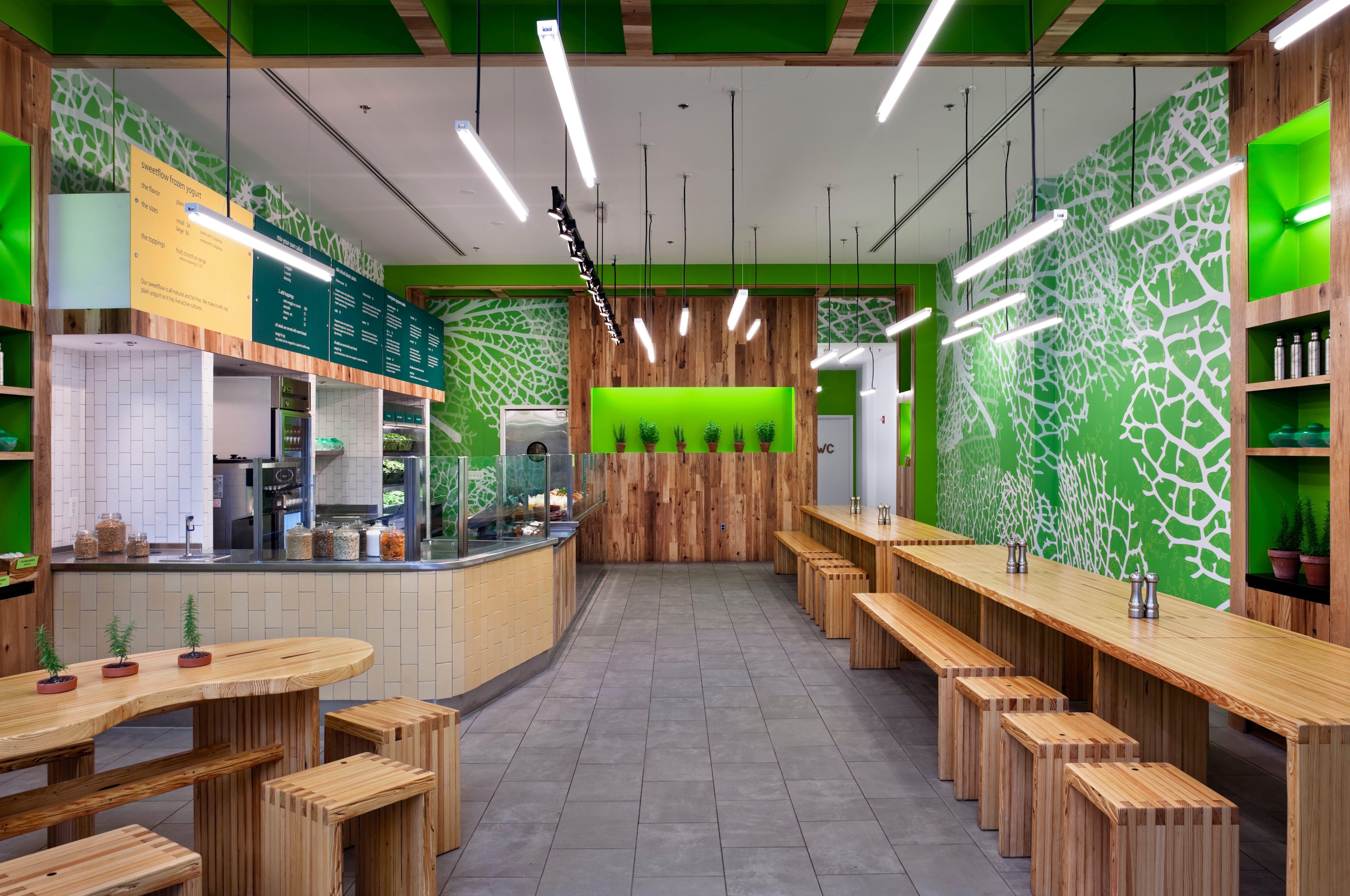 Sweetgreen restaurant design pinterest