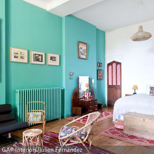 Schlafzimmer in Türkis gestalten | Schlafzimmer, Wohnen und Haus
