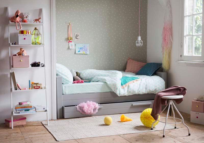 Behang Kinderkamer Grijs : Behangboom met uil muurdecoratie kinderkamer