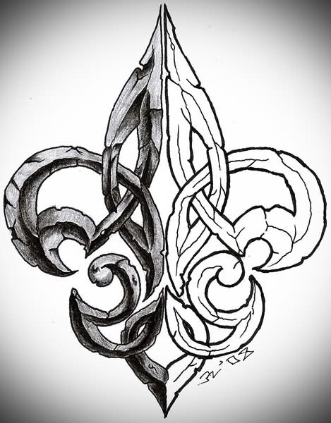 celtic fleur de lys great for a tattoo tattoos pinterest fleur de lis tattoo tattoo and. Black Bedroom Furniture Sets. Home Design Ideas