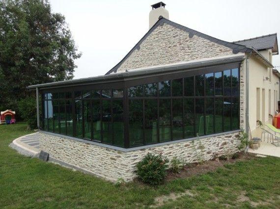 Rénovation maison ancienne + création jardin d hiver + aménagement