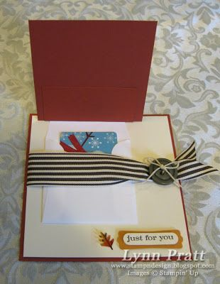 Stamp-n-Design: French Foliage Gift Card Holder