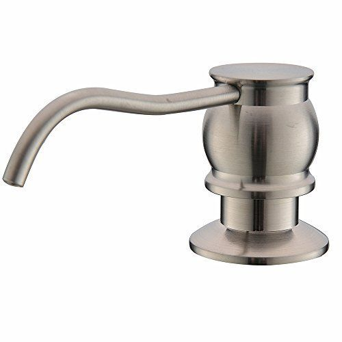 Antique Brushed Nickel Stainless Steel Countertop Kitchen Sink Soap  Dispenser, Built In Hand Liquid Soap