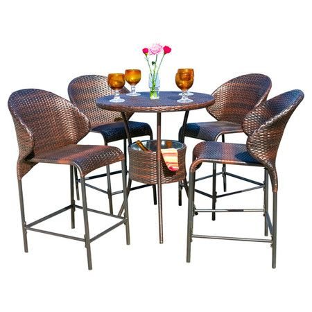 Found it at AllModern Stefan 5 Piece Pub Table Set