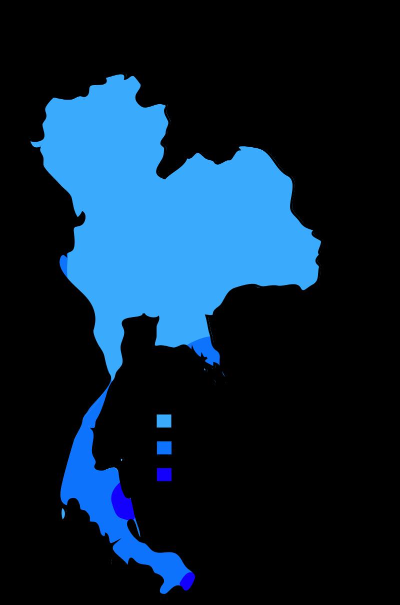 Thailand map of Köppen climate classification Thailand Thailand