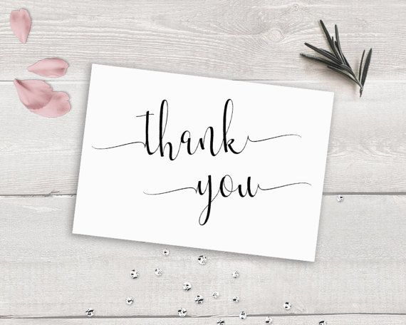 Thank You Card Printable Thank You Card Template by NovaPrintables - microsoft word thank you card template