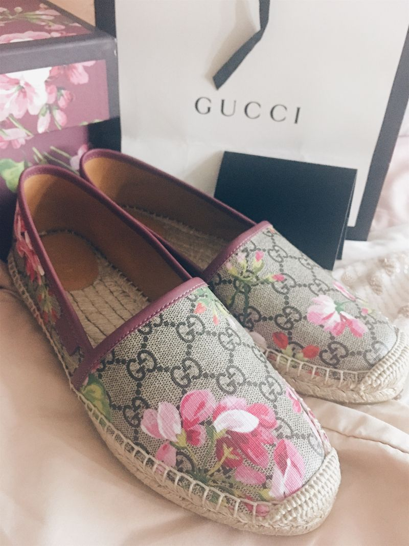bbcfdd8e7 Gucci Bloom Espadrilles Review - I am extremely happy with my Gucci bloom  espadrilles and find myself reaching for them all the time.