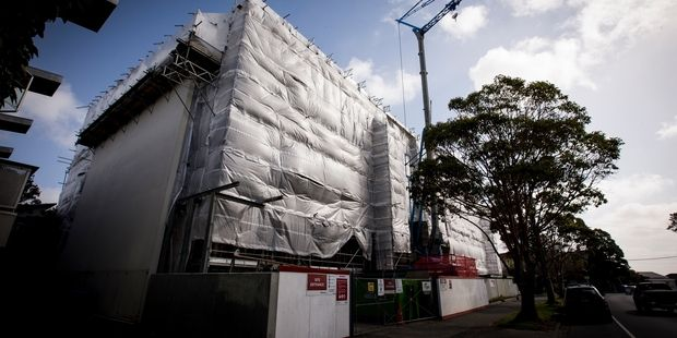 The Pulse Apartments in Grey Lynn. Apartment owners are worried their building may be stigmatised. Photo / Dean Purcell