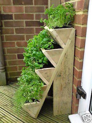 HERB / STRAWBERRY PLANTER Raised Garden Pots Seed Plant