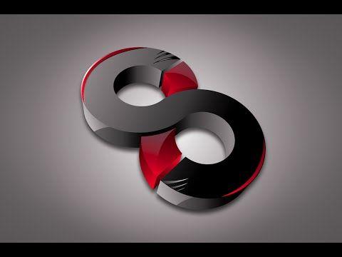 Illustrator Tutorial   3D Glossy Logo Design Bend - YouTube