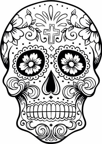 - Dia De Los Muertos - Colouring Pages Skull Coloring Pages, Coloring  Pages, Free Coloring Pages