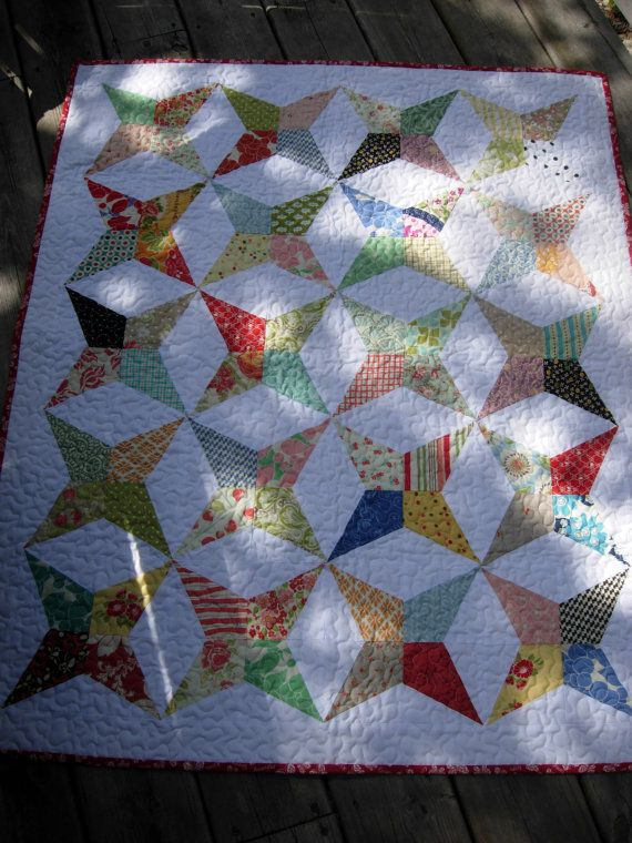 Handmade Quilt Periwinkle Star Quilt